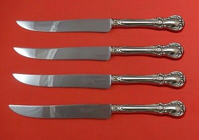 Old Master by Towle Sterling Silver Steak Knife Set 4pc Large Texas Sized Custom