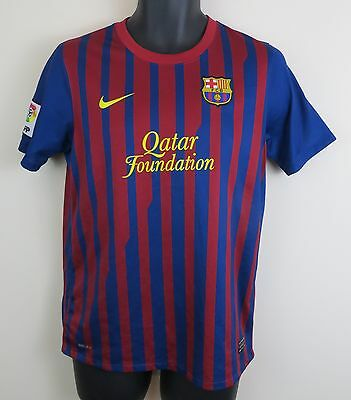 more photos cd2b5 70313 NIKE PIQUE BARCELONA Football Shirt 3 Barca Camisa Soccer Jersey Maglia  13-15 XL