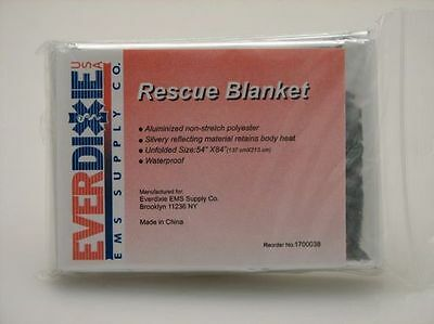 """50 Emergency Rescue Space Thermal Mylar Blankets 52"""" x 84"""""""