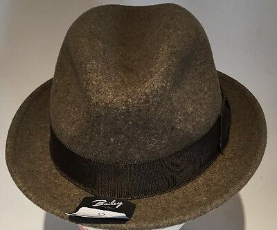 dc03dbf35b835 Bailey Tino LiteFelt Fedora Hat 100% Wool Brown Small