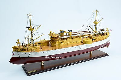 USS Maine ACR-1 US Navy Armored Cruiser Wooden Ship Model 39""