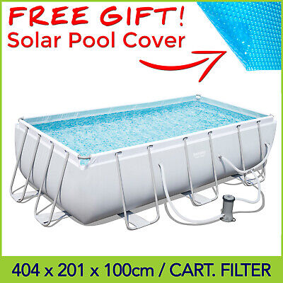 🎁 Bestway Above Ground Swimming Pool 4.04 x 2.01 x 1 m with Cartridge Filter
