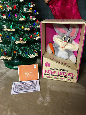 Bugs Bunny Puppet 60s Original box./tags. Clean & Talking