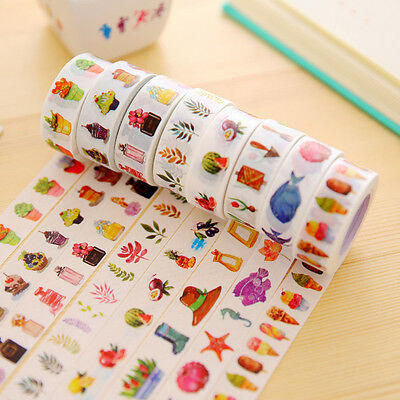 1X Creative Paper Sticky Adhesive Sticker Photo Diary Adhesive Decorative Tape