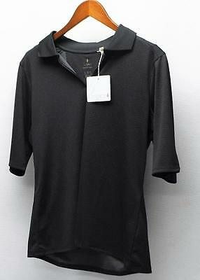 New Ladies Lopez 1/2 sleeve polyester golf polo shirt NWT Large Black
