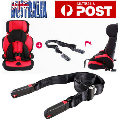 2X Adjustable Isofix Latch Link Belt Anchor Holder Car Baby Kids Safe Seat Strap