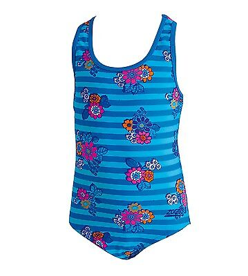 Zoggs Regatta Frills Action Back Girls One Piece Swimsuit / swimmers / bathers