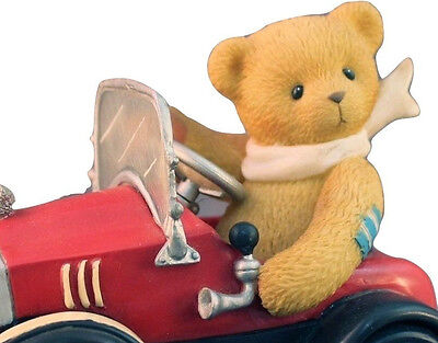 Cherished Teddies Figurine Roger You Set My Heart in Motion Race Car No Box