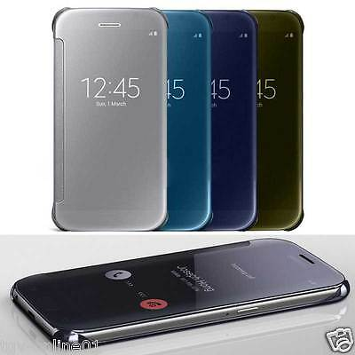 Shockproof Luxury Flip Mirror Hard Clear Case Slim Cover For iPhone 7 / 7 Plus
