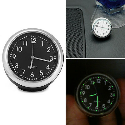 1*Useful Mini Delicate Car Quartz Clock Luminous Mechanics Car Interior Decor NE