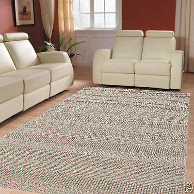 Wool Plain Grey Mix Colour Natural Thick Floor Rug Thick 200x290cm   UL26