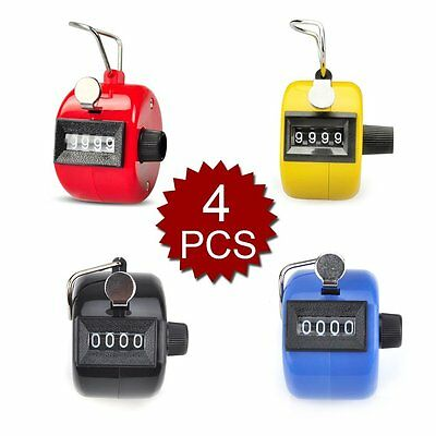 GOGO 4 Digit Sport Handheld Tally Counter Golf Clicker Finger Ring Pocket size