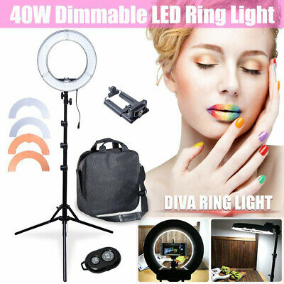 AU Studio 34cm 40W Dimmable LED Ring Light + 6' Reserved Stand + Color Filter