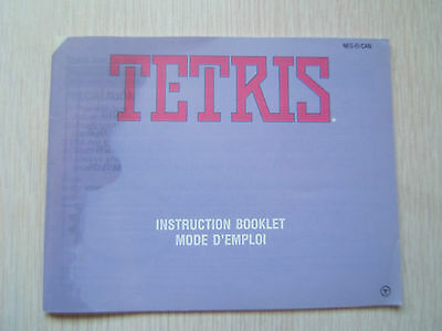 Tetris Instruction Booklet for Nintendo NES Manual Only No Game