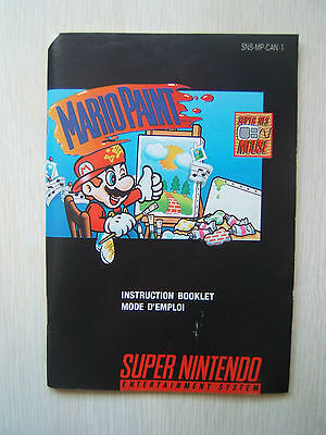 Mario Paint Instruction Booklet for SNES Super Nintendo Manual Only No Game