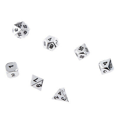 7pcs Multi-sided RPG Game Dices Dungeons&Dragons D4-D20 Board Game Dice #9