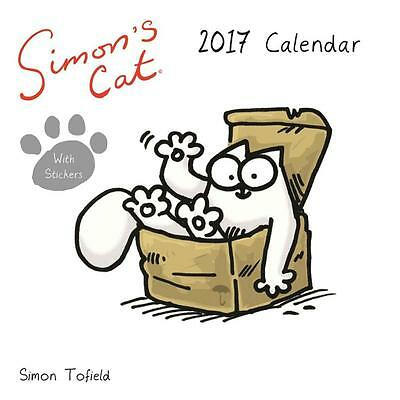 Simon's Cat 2017 Uk Square Wall Calendar New & Sealed With Free Stickers