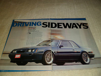 1986 FORD MUSTANG article / ad