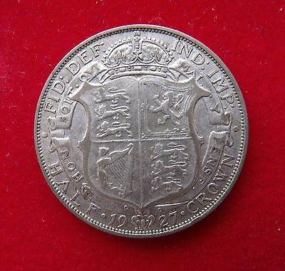 1927 Half crown Coin George V  a better grade silver Britiish Coins