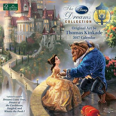 Disney Thomas Kincade 2017 Uk Square Wall Calendar New & Sealed By Brown Trout