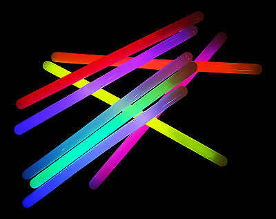 "250x 12"" Mega Glowsticks - Mixed Glow Batons Sticks (15mm) Glowtopia Festivals"
