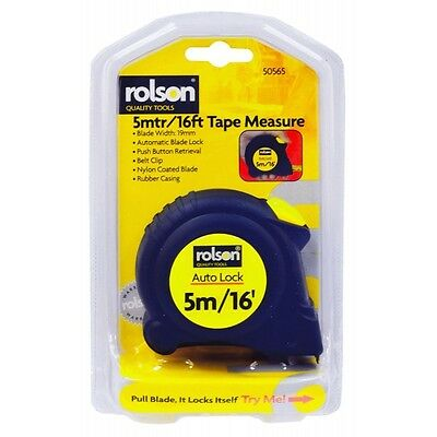 Rolson 5m/16ft Tape Measure - 50565