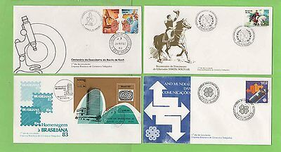 Brazil  Collection of eight FDC's inc Railways & Scouts Thematics