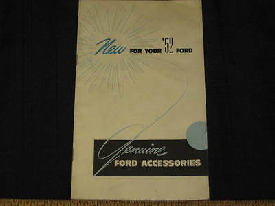 1952 Ford Genuine Accessories Sales Brochure