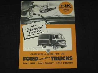 1953 Ford Trucks F-350 Delivery Sales Brochure CDN