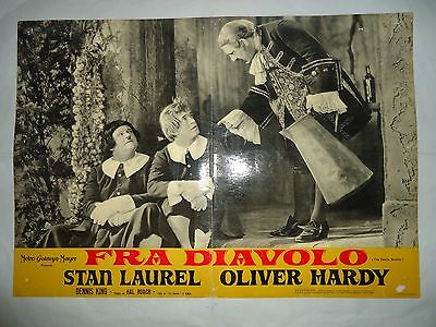 LAUREL and HARDY/THE DEVIL'S BROTHER/FRA DIAVOLO /ME14S/ italy poster