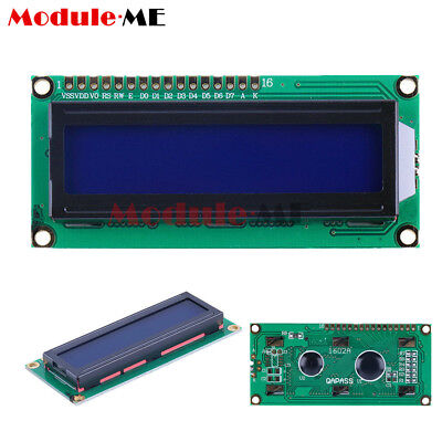 1602 16x2 Character LCD Display Module HD44780 Controller Blue Blacklight UK
