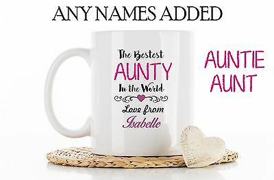 Awesome Auntie Mug Aunt Christmas Gift Best Aunty Cup Aunts