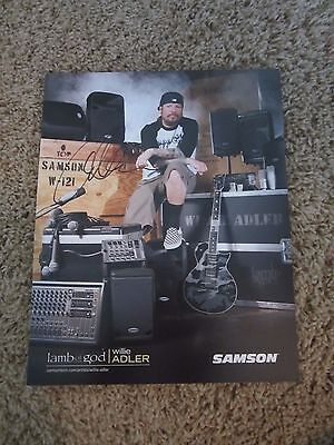 Lamb Of God Willie Adler Autographed Picture