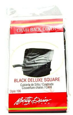 Betty Dain Deluxe Square Chair Back Cover 196 Color: Black