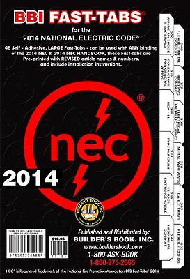 2014 National Electrical Code NEC Fast-Tabs For Softcover, Spiral, Looseleaf and