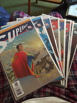 All Star Superman #1-8 DC Comics Grant Morrison Frank Quitely Lot Set Run