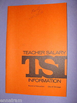 1971 Chicago Board of Education Teacher Salary Information Booklet