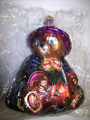 """Christopher Radko (1999) (Retired) """"Bearwitched"""" Bear Ornament - Poland"""