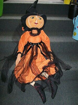 """Isadora"" Pumpkin Witch Soft Figure designed by Joe Spencer for Gallerie II"