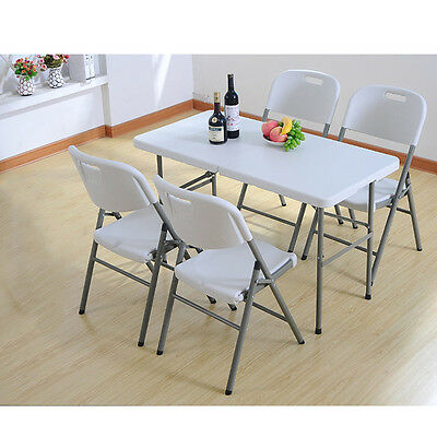 4FT Portable outdoor Trestle camping picnic Party travel plastic folding table