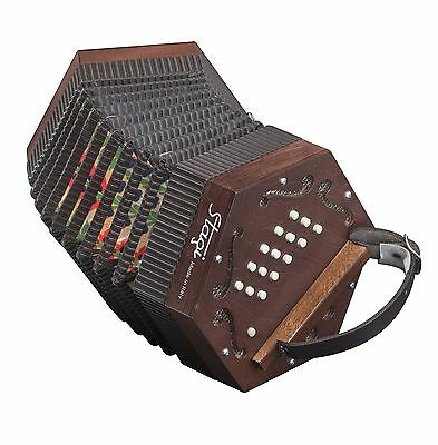 NEW Stagi M5 Wood Anglo Concertina  M 30 Button Made in Italy Carrying Sack