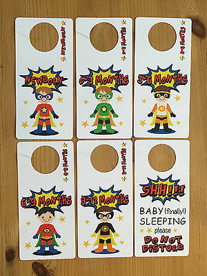 superhero BABY WARDROBE DIVIDERS Newborn to 1 Year closet organiser SUPER HERO