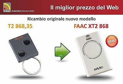 Radio control original FAAC T2 868 - NEW MODEL XT2 868 SLH MASTER white
