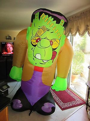 Halloween Inflatable Frankenstein Monster Party Air Blown Blowup Yard Lights up!