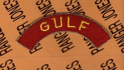 US Army WWII Transportation Corps GULF cotton tab arc patch
