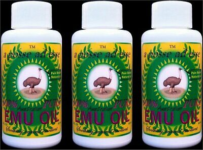 100% Pure Australian Emu Oil *TRIPLE PACK* Unsurpassable in Freshness & Quality