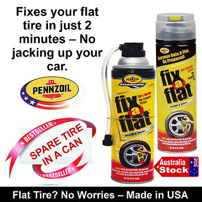 Car Emergency Flat Punctured Tire Inflator Sealer Fix-A-Flat Spare Tire In A Can