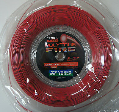 Yonex Tennis String Poly Tour Fire 125, PTF125, 1.25 mm, 200 m, Made in Japan