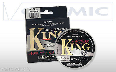 COLMIC KING Filo 100% FLUOROCARBON Made in Japan - Monofilo Colmic King 50 mt.