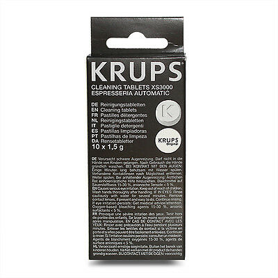 Cleaning Tablets Pack of 10 - XS3000 For Krups Coffee Makers Espresseria